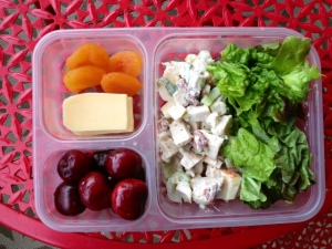 Crisp Chicken Salad with Apple and Basil