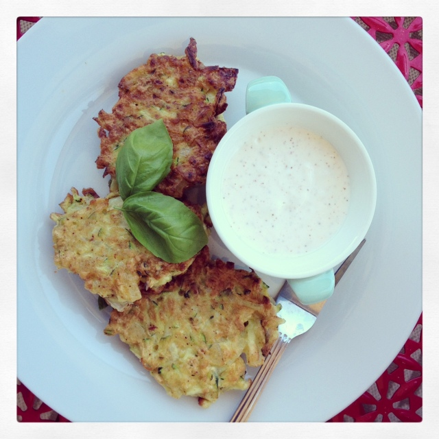 Zucchini Fritters with Chili Lime Sauce